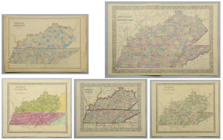 5 19th cent. KY & TN Maps
