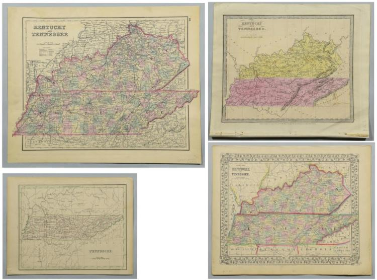4 19th Cent. TN Maps