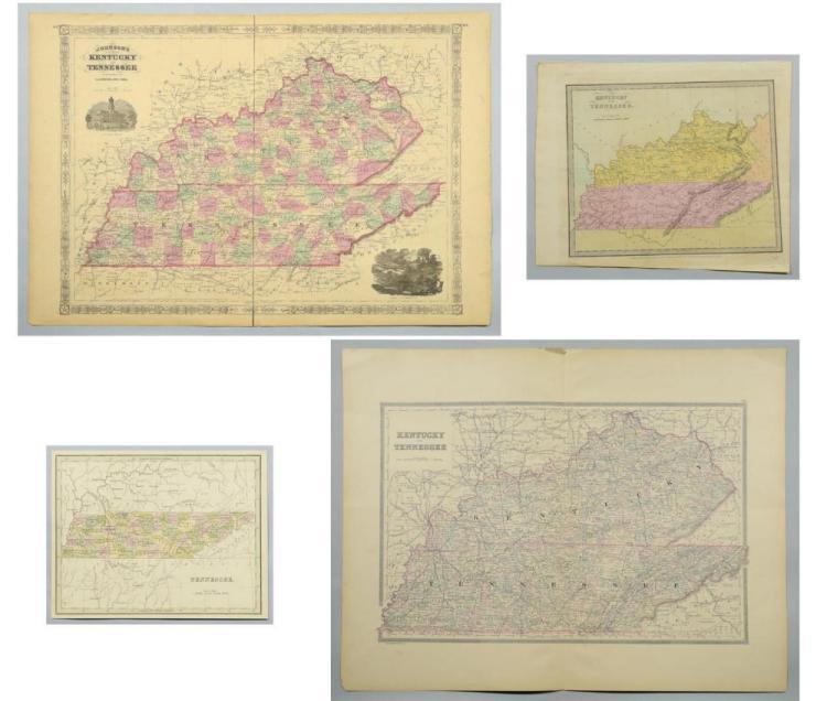 4 19th cent. TN & KY Maps
