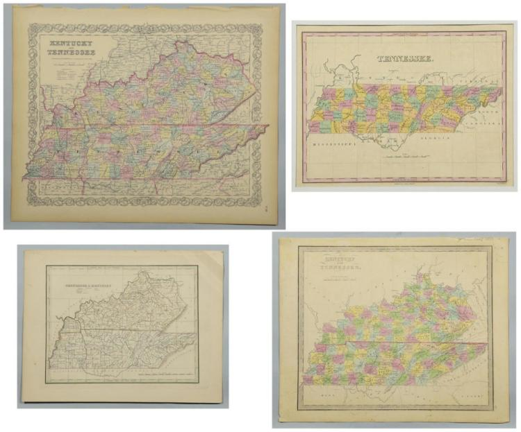 4 19th Cent. TN & KY Maps