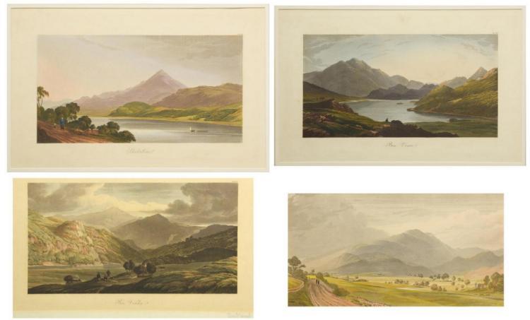 4 George Fennel Robson Engravings, Henry Morton