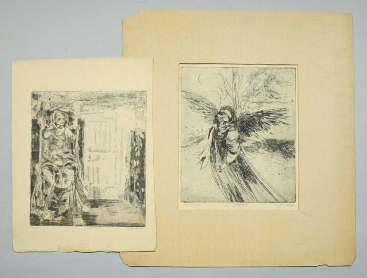 2 James Van Dyk Etchings