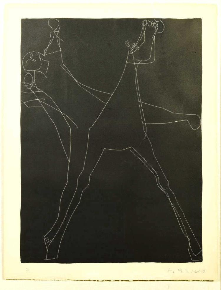 Marino Marini abstract litho, framed