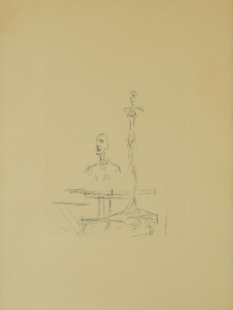 Etching After Alberto Giacometti, The Search
