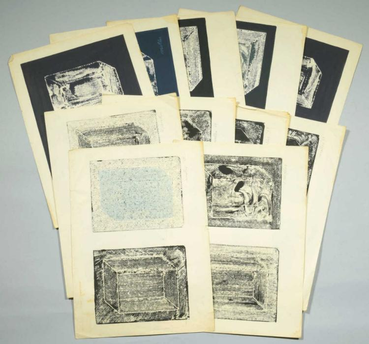 12 Andrew Molles Woodblock Prints