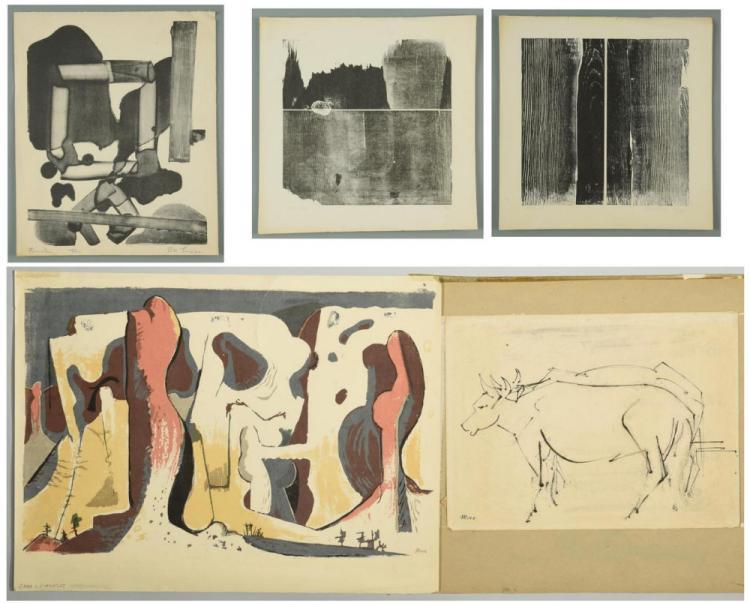 5 Modern prints, incl. Muse, Loran