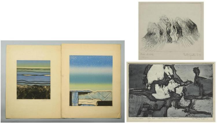 4 Modern Prints, incl. G. Raymond Kerciu