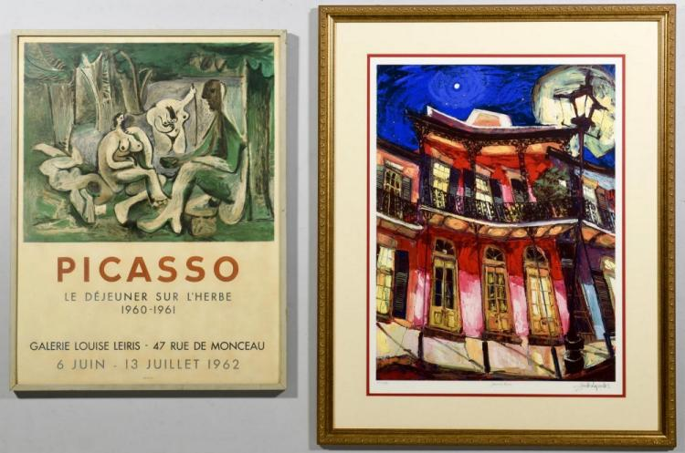 2 Modern Lithographs, incl. Picasso Poster