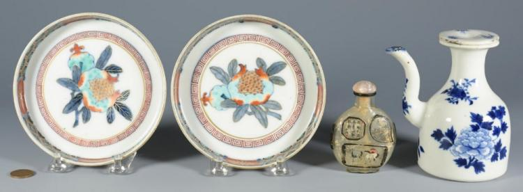 Asian Snuff bottle, Imari and Ewer - 4 items