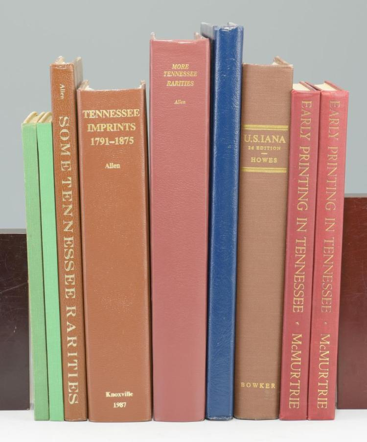 Lot of 9 Tennessee Reference Books inc/Printers