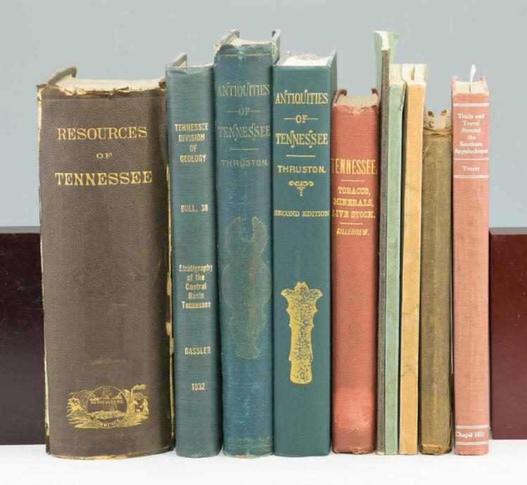Lot of 10 Tennessee Natural Resources Books