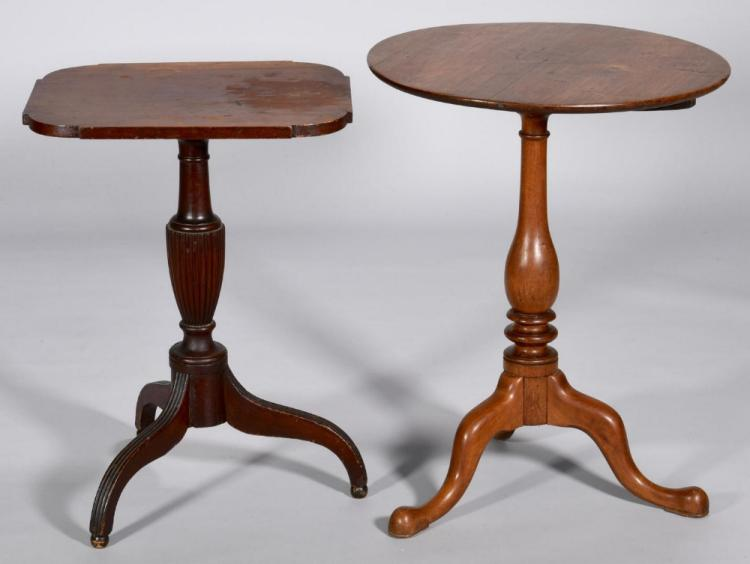 Tennessee Tea Table & Sheraton Candle Stand