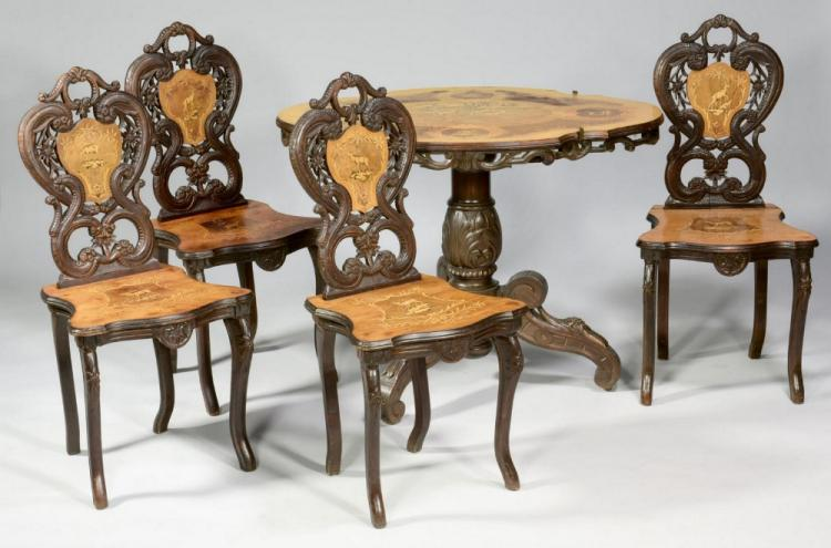 Edelweiss Brienz Table Suite w/ Music Box Chair