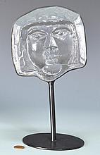 Erik Hoglund Kosta Boda Face Sculpture