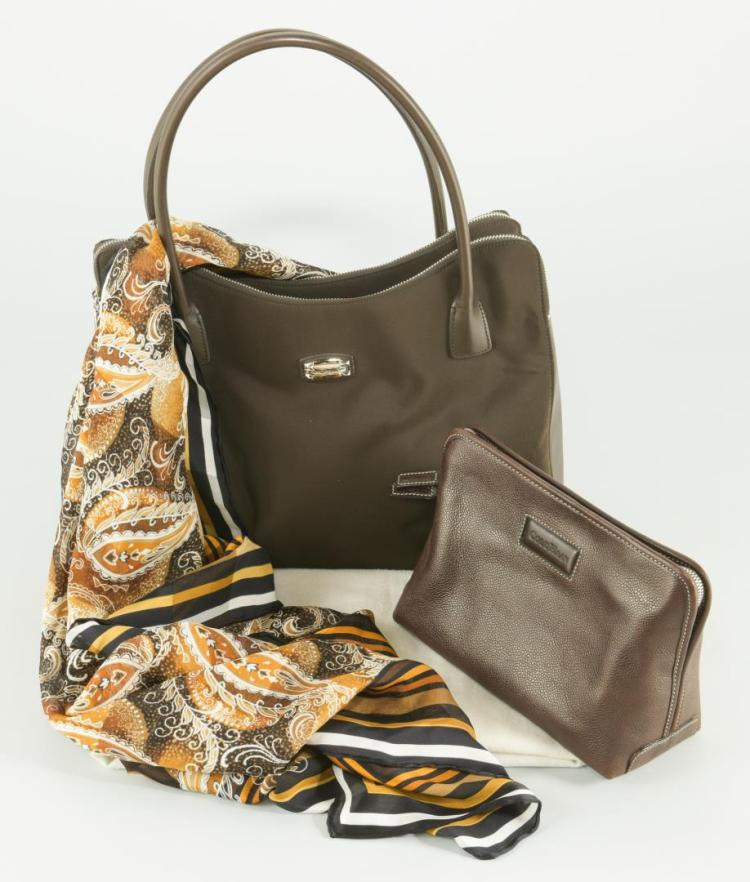 2 Cole Haan Bags & Silk Scarf