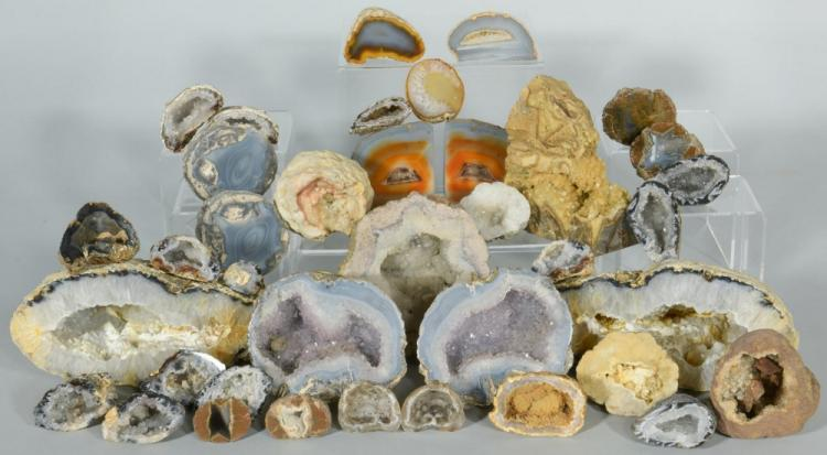 Large Mineral /Geode Collection