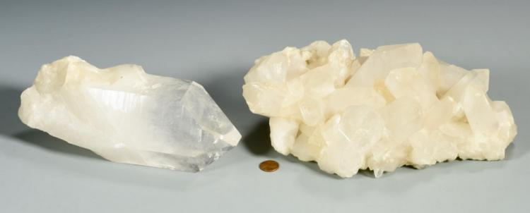 4 Free Form White Quartz Crystals