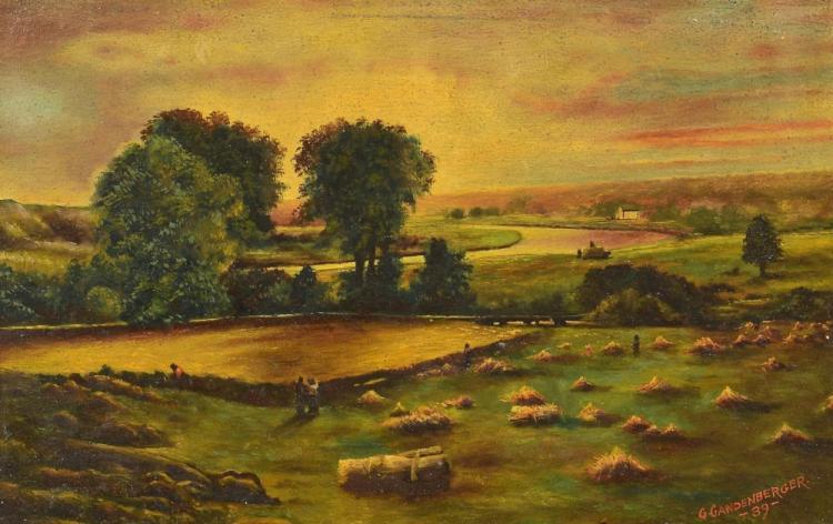 American School O/B farm landscape, Gandenberger