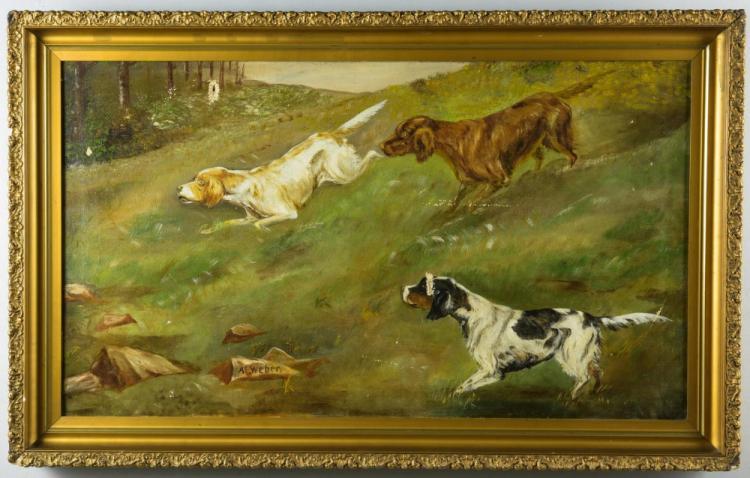 A.E. Weber, O/C, Hunting Dogs
