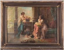 Hans Zatzka Oil on Canvas Orientalist Scene