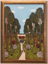 M. Korsak Painting - Park Scene