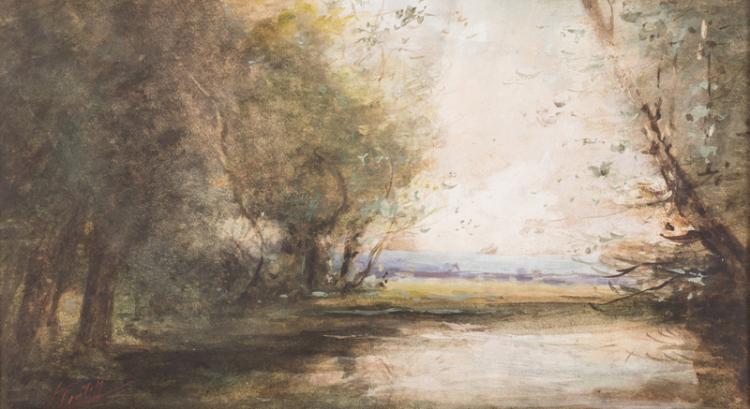 Charles Krutch Watercolor Landscape