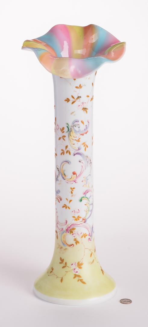 Attr. Mount Washington Rainbow Enameled Vase
