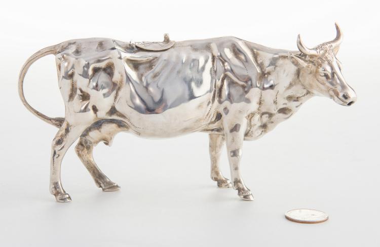 European Sterling Silver Cow Creamer
