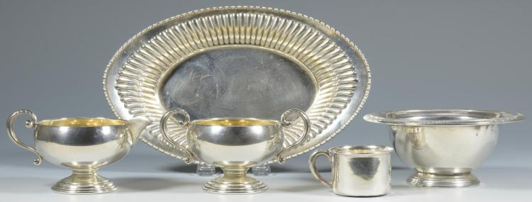 5 Sterling Table Items