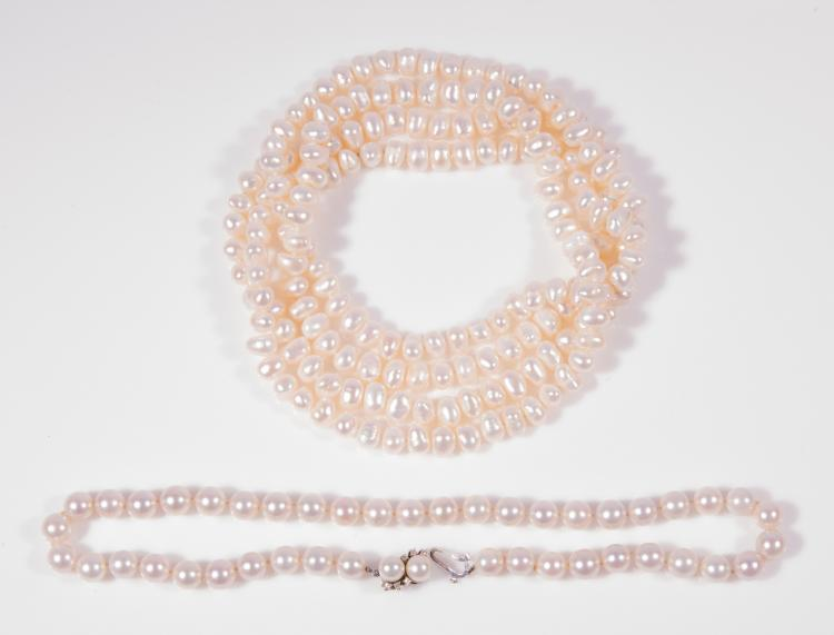 2 strands pearls