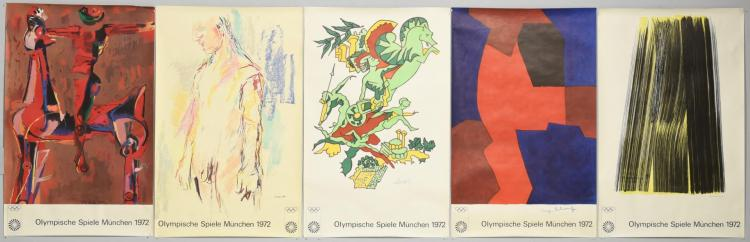 Five 1972 Munich Olympic Posters