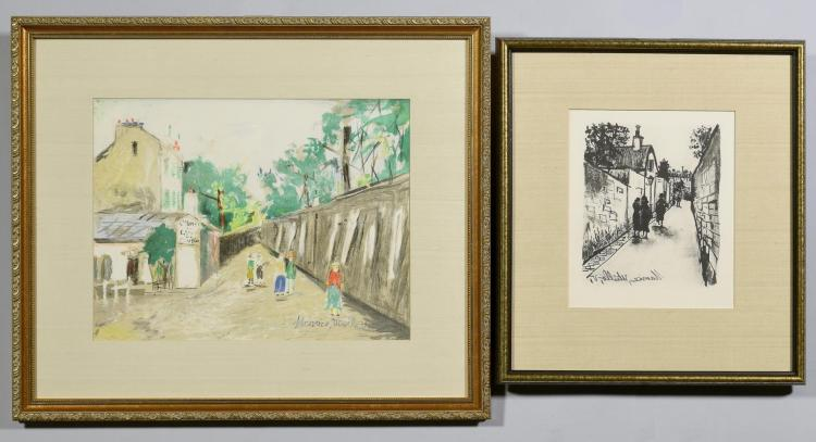 2 Maurice Utrillo Lithographs. Street Scenes