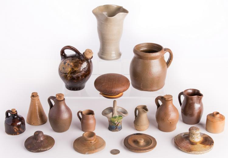 Group 11 Pottery Items, incl. Middle TN Miniatures, plus 1