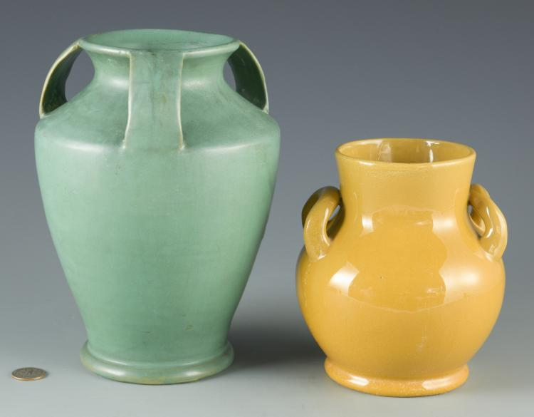 2 Bybee/Waco Art Pottery Vases