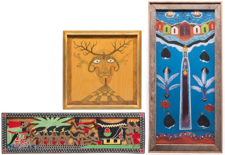 3 Folk Artworks, 20th century