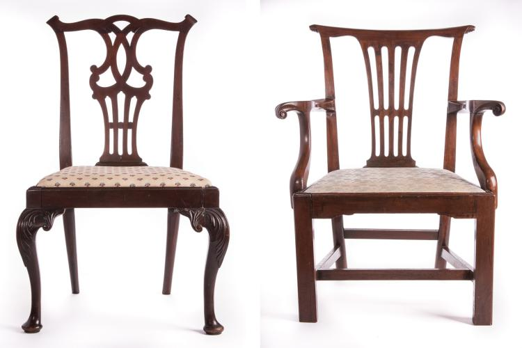 Two 18th c. Chippendale Chairs