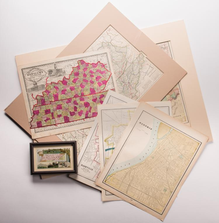 7 KY & TN Late 19th/Early 20th Century Maps