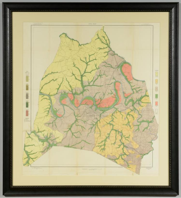 1903 Geological Map, Davidson County
