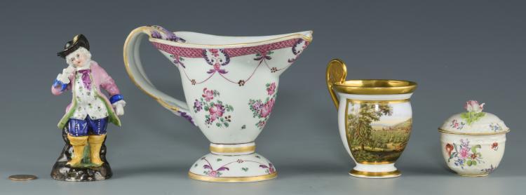 4 European Porcelain items, incl. Samson