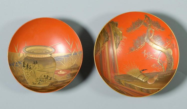19th/early 20th c. Asian Items includ. Shomosai Sake Cups