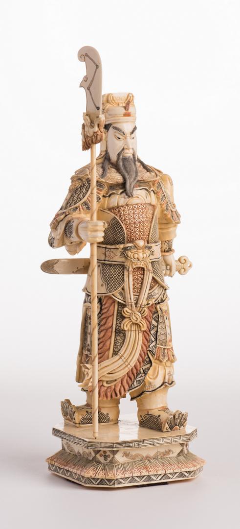 Chinese Guan Yu Carved Bone Warrior