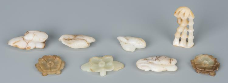 8 Chinese Jade Carved Toggles
