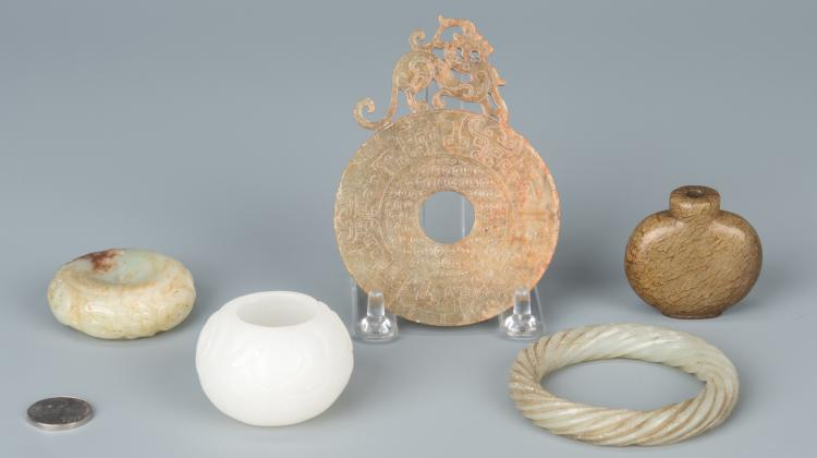 5 Asst. Chinese Jade & Hardstone Items