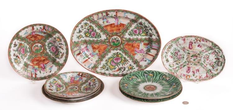 8 Chinese Porcelain items, incl. Rose Medallion