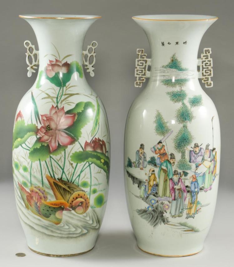 2 Chinese Porcelain Floor Vases