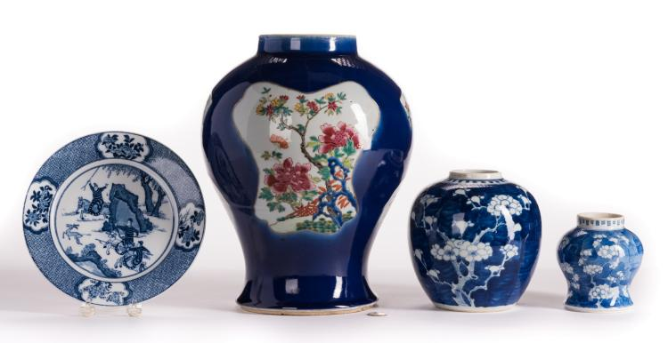 4 Blue & White Chinese Porcelain Items