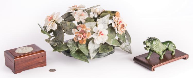 3 Asian Hardstone Decorative Items
