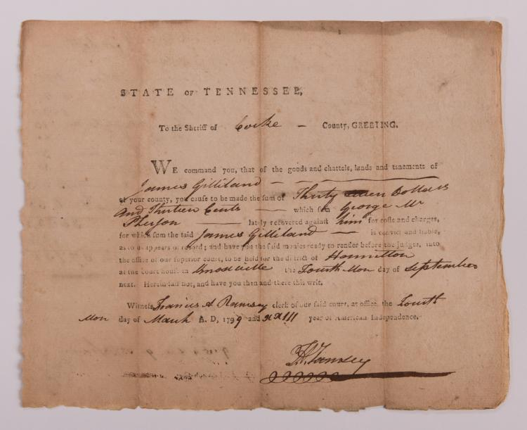 4 Signed East TN Document, inc. F. A. Ramsey