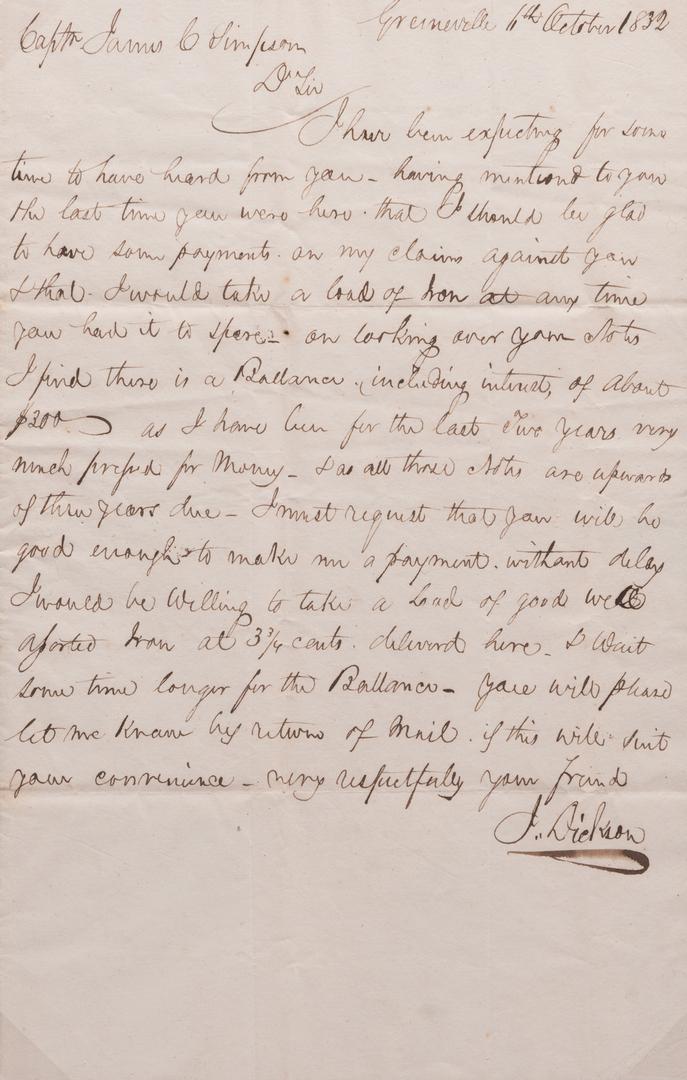 4 19th cent. East TN Letters, inc. Charlton, J. Dickson