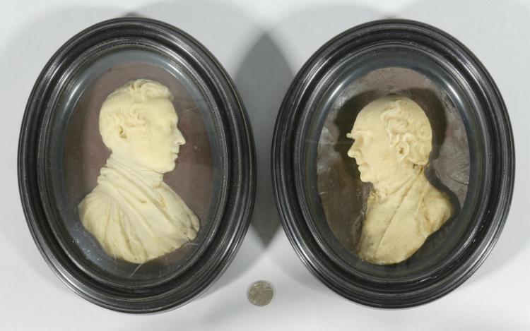 Pr. 19th c. Wax Portraits